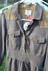 military inspired dainty june khaki dress