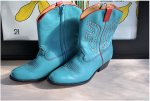 Vintage Blue and Red Frye Cowboy Boots Fryes